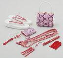 七五三 7歳 女の子 はこせこ セット 式部浪漫 ブランド 紫 日本製 販売 購入 草履 バッグ はこせこ 箱せこ ハコセコ 帯締め 扇子 お守り びらかん