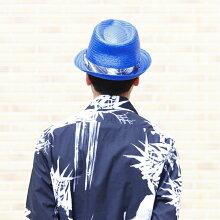 ■DIESELディーゼルメンズレディース男女兼用■ボタニカル柄リボン中折れ帽子ペーパーハット帽子【CARANX】【サイズ2・3】【ブルー】die-m-a-74-211詳細画像4