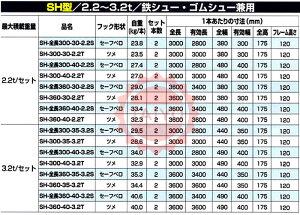 昭和ブリッジアルミブリッジ・SH-全長300-35-3.2S(ベロ式)3.2t/セット【全長3m/内幅35cm/積載3.200kg】