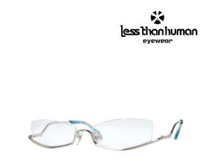 送料無料【LESS THAN HUMAN】 レスザンヒューマン  メガネフレーム po6po10  1010S  シルバー アンダーリム 《人気モデル》