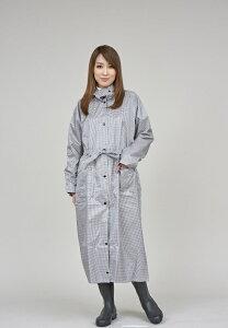 【レインコート】キンカメ レビータレインコート(白黒ギンガムチェック)105/110/115/120