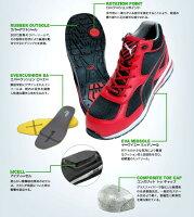 送料無料【PUMA】【JSAAA種】プーマセーフティスニーカー安全靴スニーカーNo.64.229.0ヒューズモーションブラック