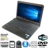 現品一台限り 15.5型 SONY製 VAIO Eシリーズ PCG-61311N(VPCEA2AFJ) Core i5 430M-2.27GHz メモリ4GB HDD320GB マルチドライブ WLAN内蔵 MAR Windows10 Home 64bit済 プロダクトキー付【HDMI、Webカメラ、eSATA,Bluetooth】【中古】【マットブラック】
