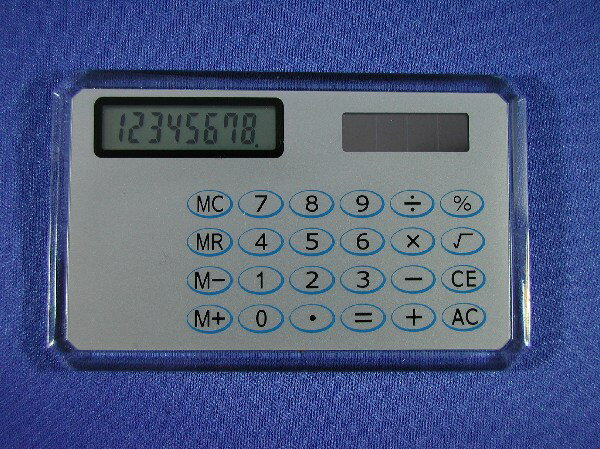 Solar card pocket calculator 8 digits (BT-109)