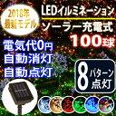 【100球】イルミネーション LED ソーラー☆点灯8パター...