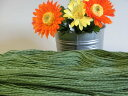 ウール100%♪防縮糸で肌触りのよい糸です。【純毛合太】 ★防縮糸 全8色 <わさび色>