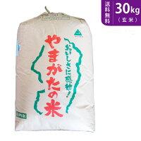 【送料無料】山形県産つや姫(玄米)30kg