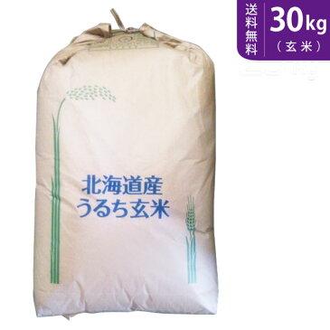 【送料無料】令和元年産 北海道産ゆめぴりか(玄米)30kg【smtb-TD】【saitama】