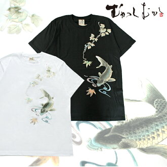 A precedent sale for summer! The brand ☆ old days old days ☆ sum pattern T-shirt ☆ maple carp ☆ black / black that is famous for pine っちゃん wearing