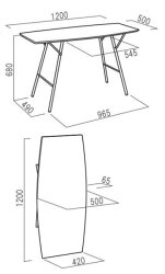折り畳み式テーブルトラスバレルテーブル1250[ルネセイコウ]送料無料