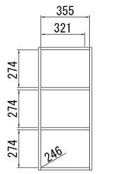 ネコちゃんデザインのカラーボックスドア付きタイプシャローゼCRS-90403Dパープル送料無料