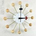 ジョージ・ネルソン デザイン ボールクロック ナチュラル 壁掛け時計 CL-09 NA