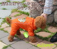 【メール便送料無料】カラフルレインコート/オレンジ小型犬用(M-XLサイズ)【RUISPETルイスペット】ドッグウェア