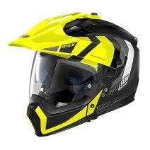 ♪お買い物マラソン♪☆【Nolan】(ノーラン)N70-2Xグラフィックオートバイヘルメット Colour:DecurioFlatBlack/Yellow