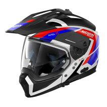 ♪お買い物マラソン♪☆【Nolan】(ノーラン)N70-2Xグラフィックオートバイヘルメット Colour:GrandesAlpesBlack/White/Blue/Red