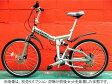 【折り畳み自転車★軽量アルミフレーム24インチ】 前後ディスクブレーキ&サスMTB特殊アルミフレーム24
