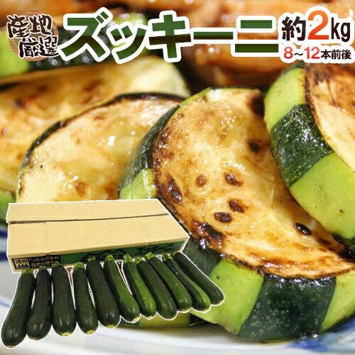 """産地厳選 """"ズッキーニ"""" 約2kg 8~12本前後 使い方色々♪注目の夏野菜!【】"""