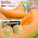 """【送料無料】北海道 赤肉メロン """"らいでんレッドメロン"""" 2..."""