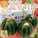 """【送料無料】高知県 """"温室すいか"""" 3〜5玉 約9〜10kg..."""