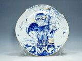 マイセン イヤー プレート 1999年 スペイン船ガレオーネ 飾り皿【中古】