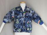 子供ジャケットデニム柄90サイズはんてん袖口リブ付日本製中綿入り送料無料E1125-09-90