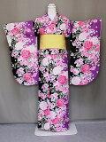 二尺袖フリ−サイズ二尺袖の仕立上りきもの洗える二尺袖卒業式に袴に合う小振袖レンタルよりお得送料無料D4490-03