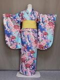 二尺袖フリ−サイズ二尺袖の仕立上りきもの洗える二尺袖卒業式に袴に合う小振袖レンタルよりお得送料無料D4490-04