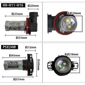 フォグランプ汎用ヘッドライト電球ledフォグバルブ交換H8/H11/H16/SX24W/SX26W/HB4最強級50w2個組ホワイト白12V仕様アルミヒートシンク採用フォグランプなどに