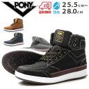 スニーカー メンズ ポニー ハイカット 靴 PONY PY-18012...