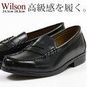 ローファー メンズ 革靴 ビジネスシューズ Wilson 5...