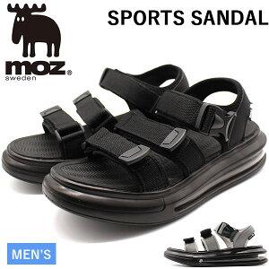 モズ サンダル メンズ 靴 スポーツサンダル 黒 ブラック グレー エアクッション 厚底 疲れにくい 人気 北欧 カジュアル moz 1805