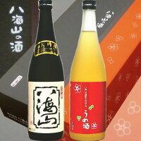 80581<八海山限定2本ギフト>八海山大吟醸・八海山梅酒赤セット(720ml)