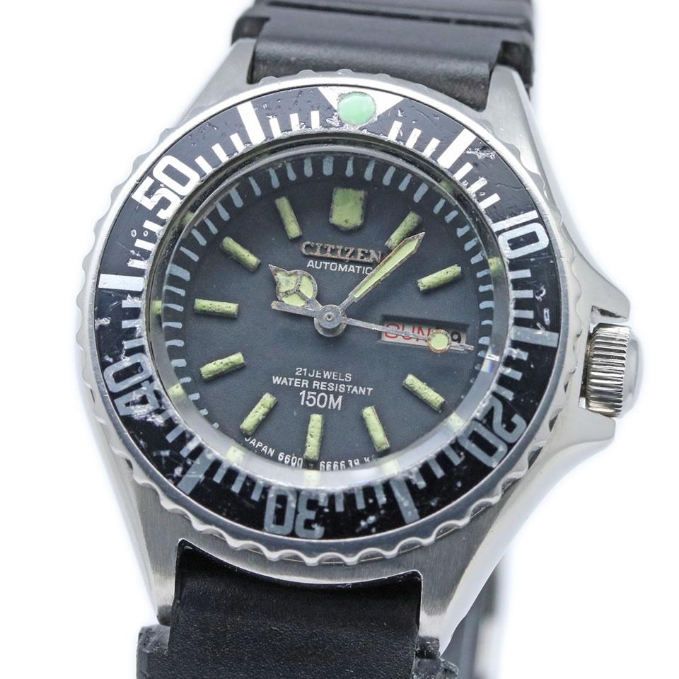 腕時計, レディース腕時計 Citizen ladies diver 150m 54-0919 VINTAGE ANTIQUE 150m 54-0919 PAWN SHOP