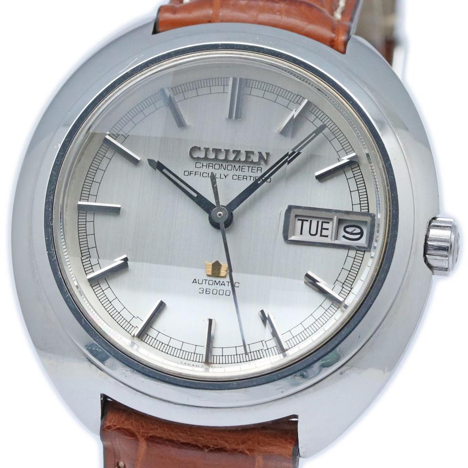 腕時計, メンズ腕時計 CITIZEN Leopard 10 Highness CHRONOMETER 36000 Ref.4-720300Y Cal.7230 10 36000 Ref.4-720300Y Cal.7230 19702 PAWN SHOP