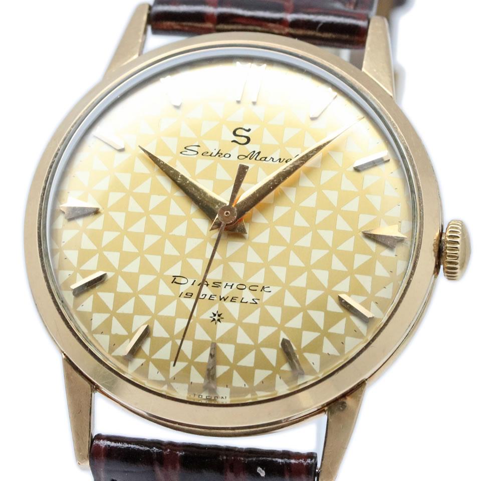 腕時計, メンズ腕時計 Seiko Marvel 14045 19 Jewels Vintage 14KGF ANTIQUE VINTAGE Ref.14045 PAWN SHOP