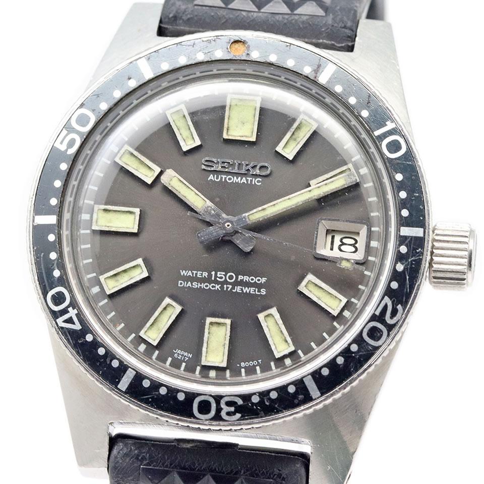 腕時計, メンズ腕時計 1966 SEIKO Vintage 62MAS 6217-8001 ORIGINAL 1st Diver 38mm Cal.6217A VINTAGE 150m1st 6217-8001 19665