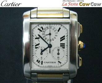 Cartier Cartier W51004Q4 タンクフランセーズ LM Kurono riff Rex men quartz combination K18YG beauty product