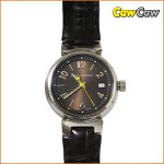 LOUISVUITTONルイヴィトン腕時計/タンブール/Q1211レディースクォーツ/ブラウンベルト【送料無料】【中古】