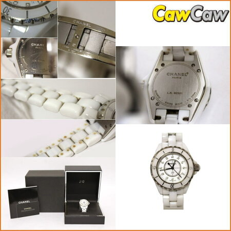 CHANELシャネルJ12H162812Pダイヤクオーツ腕時計レディース【送料無料】【中古】