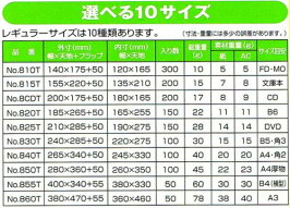 クッション封筒「ポップエコ」810T600枚セットFD・MO・MDサイズ