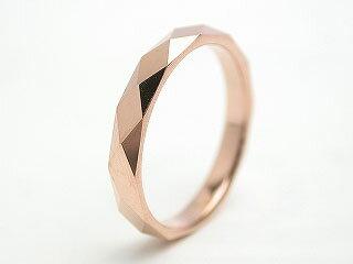 リング タングステン 指輪 レーザー刻印 金属アレルギー対応 ピンク ローズゴールド ダイヤモンドカット 菱形 幅3mm/幅4mm ピンキーリング 3号から 名入れ ステンレス メンズ レディース リング シンプル ピンキーファランジリング サージカルステンレス