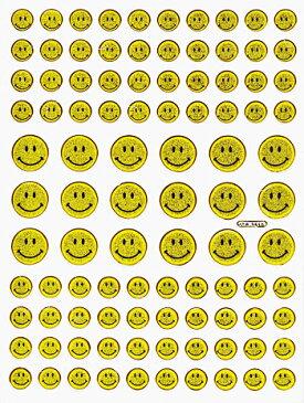 【メール便発送OK!】当店で大人気!!メタリックシール☆-ミニスマイリー-【シール】【おもちゃ】【スマイル】【激安】【プレゼント】