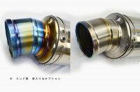 CB400F400X2013-LCIラウンドフルチタンスリップオンマフラー