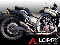 V-MAX17002009-2014LCIショートカーボンスリップオンマフラー