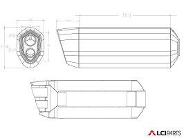VFR1200FVFR1200X2010-2016LCIカーボンエンドカーボンスリップオンマフラー