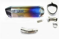 NINJA250Rニンジャ250R2008-2012LCIカーボンエンドチタンスリップオンマフラー