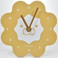 希少商品!ミスド時計ポンデライオン ウォールクロック ブラウン