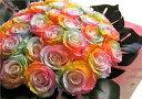 レインボーローズ プリザーブドフラワー 花束 大輪系30本使用 プリザーブドフラワー 花束 枯れずにいつまでもキレイなレインボーローズ ◆誕生日プレゼント・成人祝い・記念日の贈り物におすすめのフラワーギフト・・・