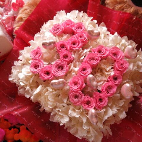数字 花 フラワーギフト ピンク数字 ご希望数字入りプリザーブドフラワー ハートピック入り あなたのご希望の数字(2ケタ)お作り致します ◆誕生日プレゼント・記念日の贈り物におすすめのフラワーギフト