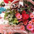 母の日 プレゼント ディズニー 季節のお花お任せギフト♪ ミッキーマウス ミニー入り 花鉢 フラワーギフト 鉢植え